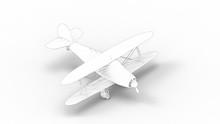 3d Rendering Of A Bi Plane Iso...