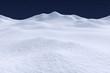 Leinwanddruck Bild - White snow hills under night sky