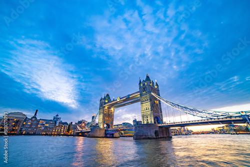 Tower Bridge  at sunset in London Wallpaper Mural
