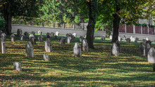 A Cemetery In A Big City With ...