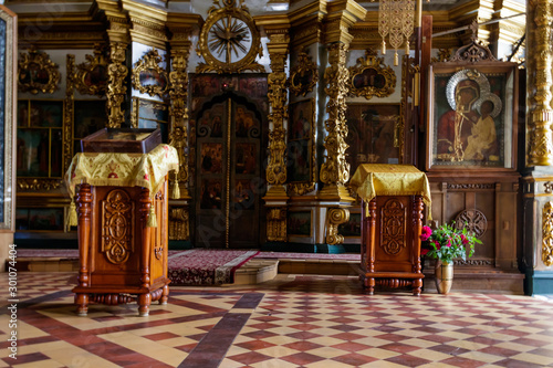 Interior of the cathedral of the Annunciation of the Blessed Virgin Mary in Annu Canvas Print