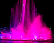 canvas print picture Dancing fountain in the park