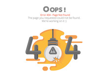 Error 404 Page Layout Vector D...