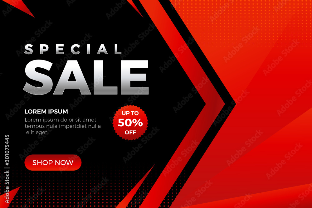 Fototapety, obrazy: Modern Special Sale Design for business. Promotion banner discount template - Vector