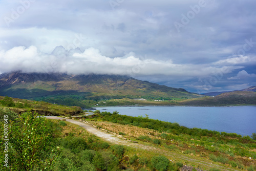 Fototapety, obrazy: Beautiful scenic route to Elgol village in summer, Scotland