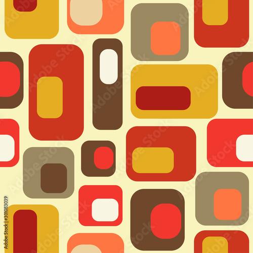mid century style seamless pattern © Claudia Balasoiu