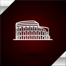 Silver Line Coliseum In Rome, ...