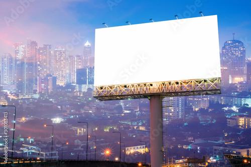 Fotografía  billboard blank for outdoor advertising poster or blank billboard for advertisement
