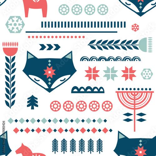 zimowy-wzor-sztuki-ludowej