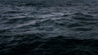canvas print picture - Dark and deep blue ocean, Water surface