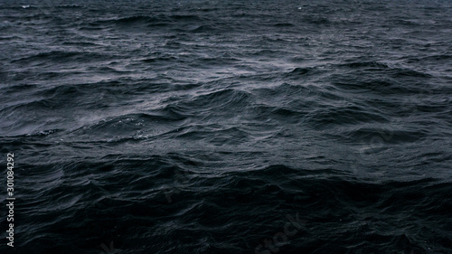 Dark and deep blue ocean, Water surface фототапет