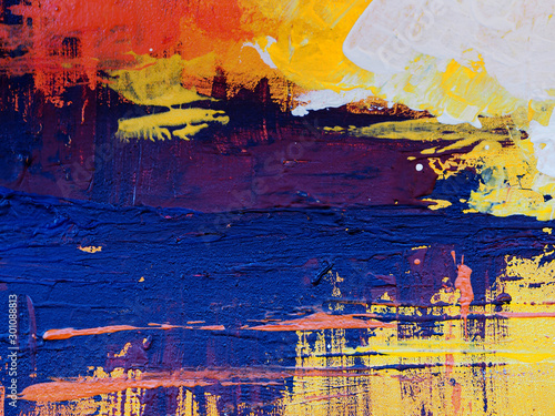 Fototapety, obrazy: colorful painting texture abstract background.