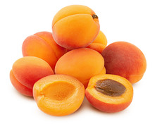 Apricot Isolated On White Back...