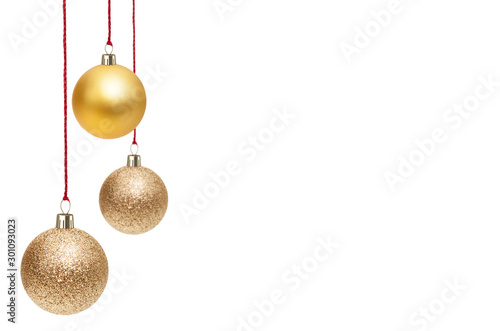 Cuadros en Lienzo  Christmas Ornaments isolated on a white background.