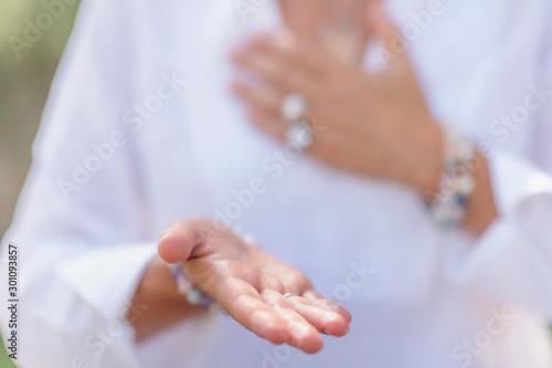 Fotografía  Sending Positive Energy, Hand Gesture, Mindful Meditation