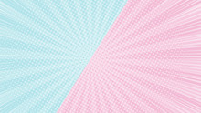 Colorful 2 Tones Pink And Blue...