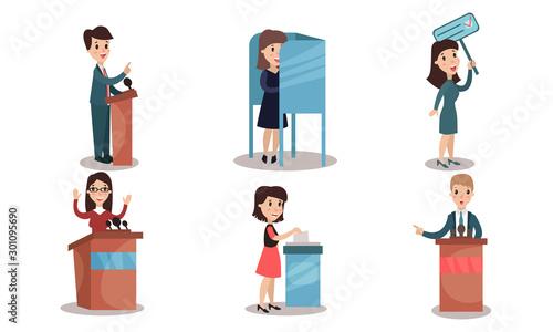 Photo Politicians Participate in the Campaign