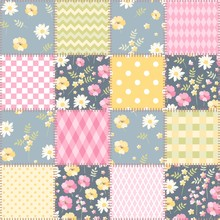 Patchwork Seamless Pattern In ...