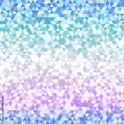 obraz lub plakat Pastel color triangle seamless pattern.
