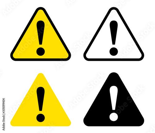 Obraz 危険 注意アイコンの看板 - fototapety do salonu