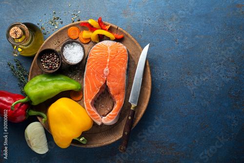 Fototapeta Salmon steak obraz
