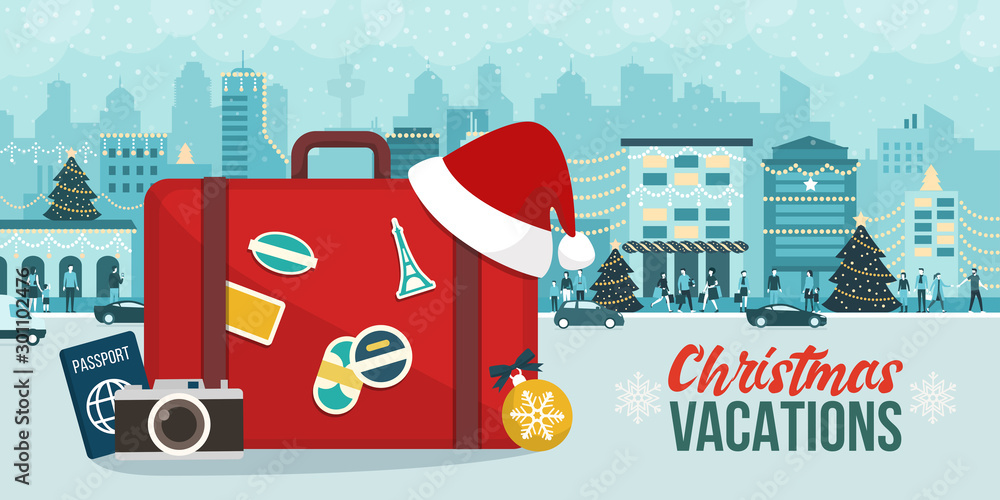 Fototapety, obrazy: Christmas vacations travel