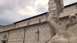 Carrara, Tuscany: tilting footage of the Neptune sculpture in Duomo square made by the world famous sculptor Baccio Bandinelli