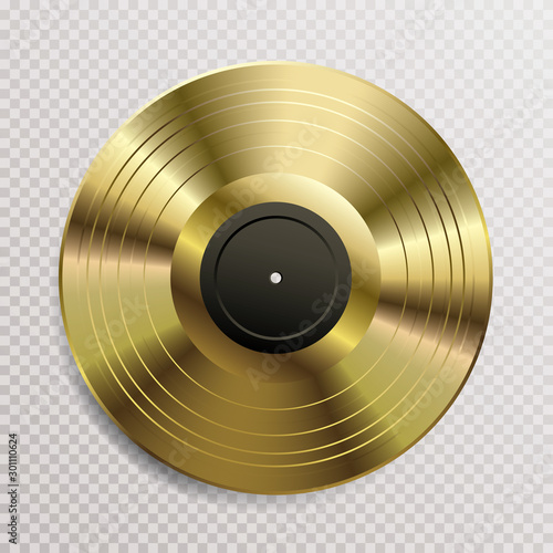 Fotografía  vinyl gold blank