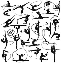 Rhythmic Gymnastic Woman Girl ...