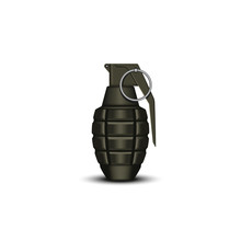 Realistic Hand Grenade 3d Vect...