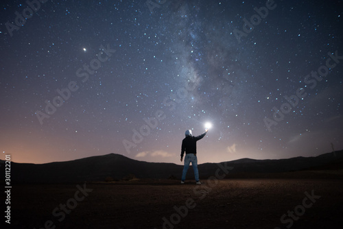 Fotografia, Obraz Bonito paisaje nocturno con buenos colores
