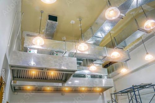 Fotomural  The restaurant ventilation system