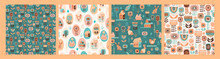 Vector Seamless Patterns With ...