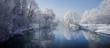 Winterlicher Loisachablauf