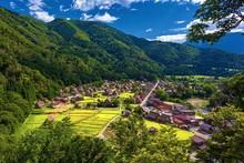 岐阜県・夏の白川郷の風景 1