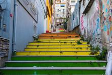 Istanbul, Turkey; Painted Rai...