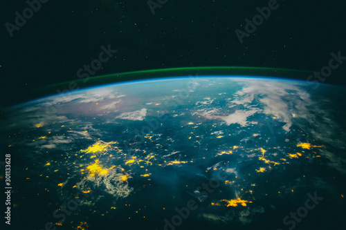 Obraz Dramatic view, earth. The elements of this image furnished by NA - fototapety do salonu