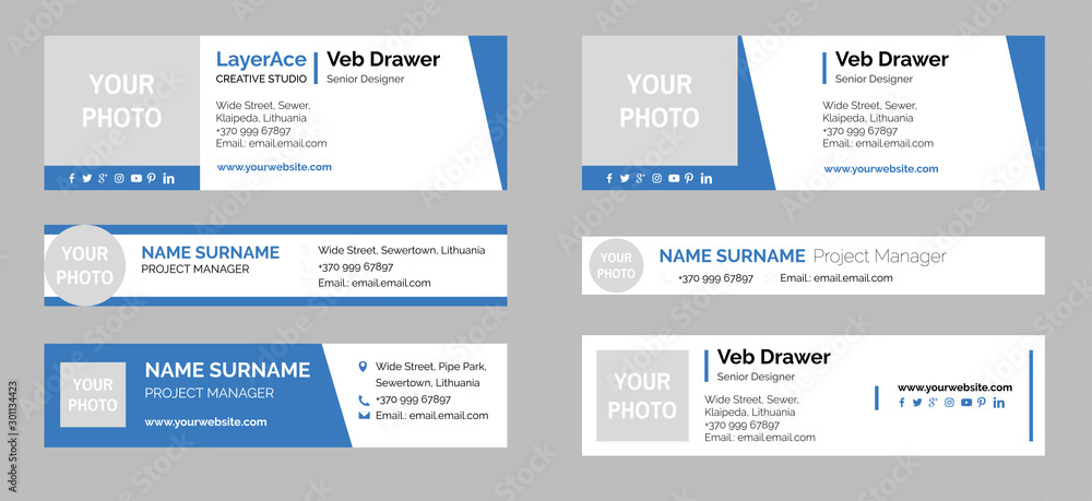 Fototapeta Professional Email Signature Templates Collection