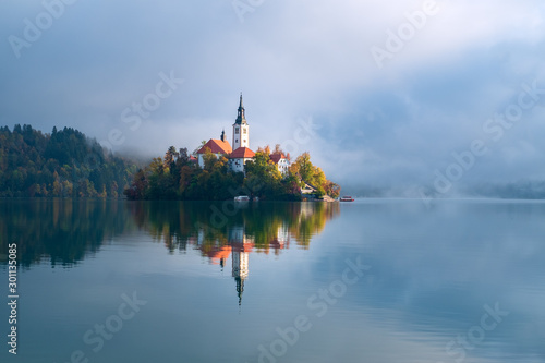 Lake Bled in Slovenia Canvas Print