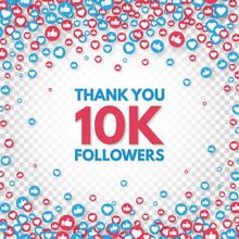 Thank You 10k Followers Backgr...