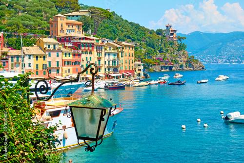 View of Portofino town Poster Mural XXL