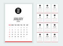 Calendar 2020. Week Start Sund...