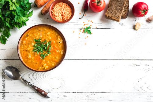 Foto op Aluminium Kruidenierswinkel Red Lentil Soup
