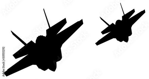 Cuadros en Lienzo Airstrike. Vector fighters