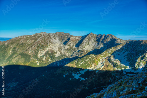 Fototapeta beautiful Western Tatras and their treks around Beranec, Ostry Rohac, Volovec, Hruby vrch obraz