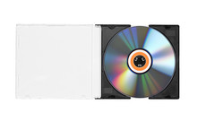 Compact Disc Isolated On A Whi...