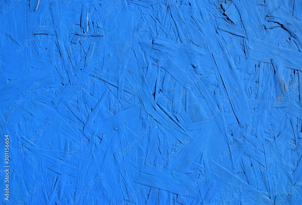 Fototapety, obrazy: rough blue background on plywood panel