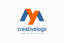 Logo Initial Letter MY Or YM For Business. Real Estate, Architecture, Construction And Building Vector Design