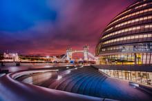 London City Landscape At Night