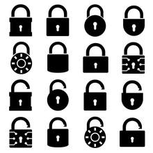 Lock Set Icon, Logo Isolated O...